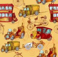Vintage-transport-seamless-steampunk-cars-bikes-colored-pattern-vector-illustration-51831621